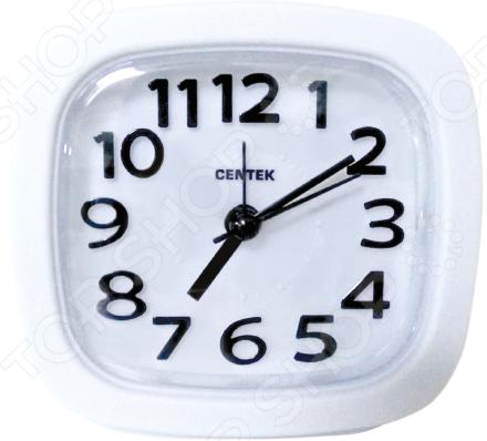 Часы-будильник Centek CT-7205 White