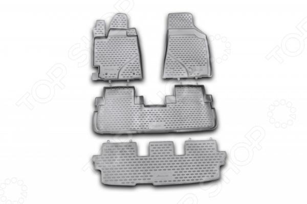 Комплект ковриков в салон автомобиля Novline-Autofamily Toyota Highlander 2010-2014 комплект ковриков в салон автомобиля novline autofamily toyota camry 2011 2014 2014