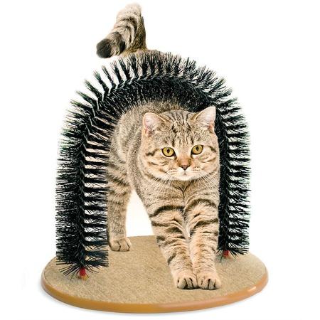 Купить Когтеточка с щеткой «Кошачье удовольствие»