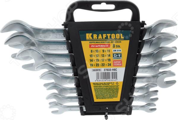 Набор гаечных ключей рожковых Kraftool 27033-HC