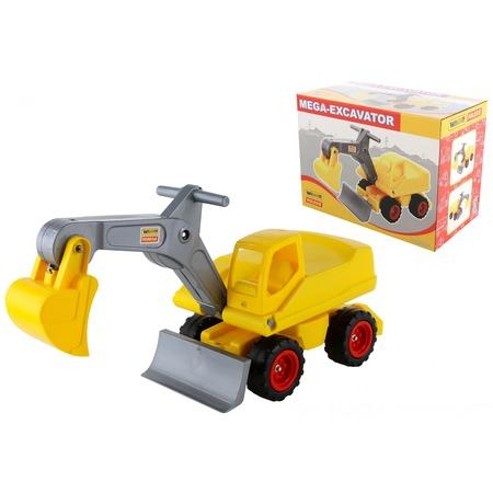 Купить Машинка игрушечная Wader «Мега-экскаватор колёсный»