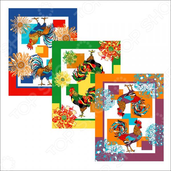 Полотенце Мультидом «Петух фестивальный» МТ88-314. В ассортименте полотенце 42 72см 48 62см мультидом цвет в ассортименте