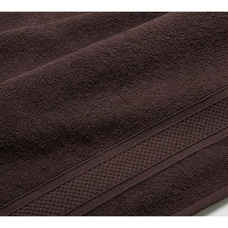 Купить Полотенце махровое Uztex с бордюром. Цвет: коричневый