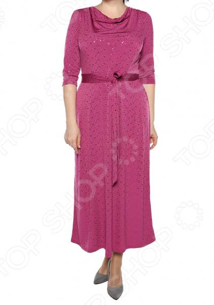 Платье VEAS «Искрящийся образ». Цвет: розовый