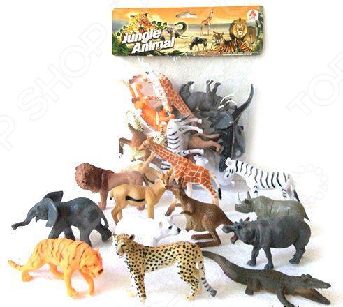 Набор фигурок игрушечных Наша Игрушка Jungle animal «Дикие животные». Количество предметов: 12 trefl классические пазлы для малышей дикие животные 1 от 2 лет