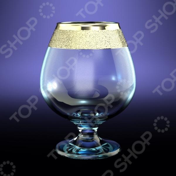 Набор бокалов для бренди Гусь Хрустальный «Золотой Карат» набор бокалов для бренди гусь хрустальный нежность 410 мл 6 шт
