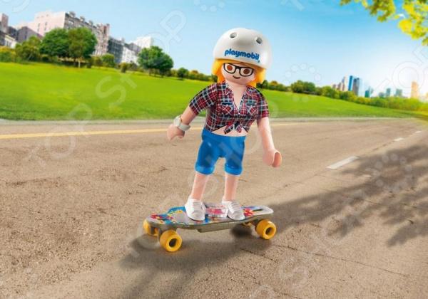 Фигурка сборная Playmobil «Друзья: Скейтбордист»