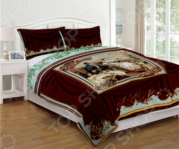 Постельное белье Викторианский шик это удобное постельное белье, которое подойдет для ежедневного использования. Чтобы ваш сон всегда был приятным, а пробуждение легким, необходимо подобрать то постельное белье, которое будет соответствовать всем вашим пожеланиям. Приятный цвет, нежный принт и высокое качество ткани обеспечат вам крепкий и спокойный сон. Атлас, из которого сшит комплект отличается следующими качествами:  достаточно мягка и приятна на ощупь, не имеет склонности к скатыванию, линянию, протиранию, обладает повышенной гигроскопичностью, практически не мнется, не растягивается, не садится, не выгорает, гипоаллергенна, хорошо отстирывается и не теряет при этом своих насыщенных цветов;  современное нанесение рисунка прекрасно передаёт цвет и мельчайшие детали изображения;  за счёт специального переплетения волокон ткань устойчива к механическим воздействиям. Перед первым применением комплект постельного белья рекомендуется постирать. Перед стиркой выверните наизнанку наволочки и пододеяльник. Для сохранения цвета не используйте порошки, которые содержат отбеливатель. Рекомендуемая температура стирки: 40 С и ниже без использования кондиционера или смягчителя воды. Постельное белье позволит разнообразить весь ваш интерьер. Ведь застеленная таким красивым комплектом кровать не может не привлекать взгляд. Приятная цветовая гамма и классический рисунок наполнят спальню особым шармом и теплом. Каждая минута, проведенная в комнате, будет вызывать исключительно приятные эмоции. Если к вам внезапно заглянут гости, то они без сомнения оценят ваш удачный вкус. Этот комплект может стать прекрасным подарком на свадьбу или удачным подарком на любой праздник для ваших знакомых или родных!