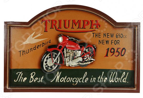 Коллаж настенный «Ретро мотоцикл» - артикул: 941020