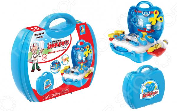 Набор доктора игрушечный 1 Toy в чемоданчике «Профи» ролевые игры playgo игровой набор доктора в чемоданчике