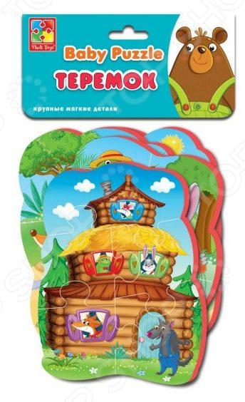 Пазлы мягкие Vladi Toys «Сказки. Теремок» 292320 цена