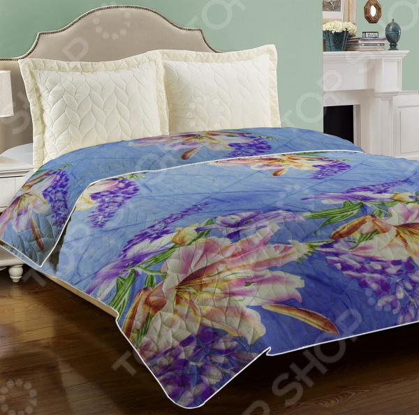 Одеяло-покрывало «2 в 1». Цвет: синий