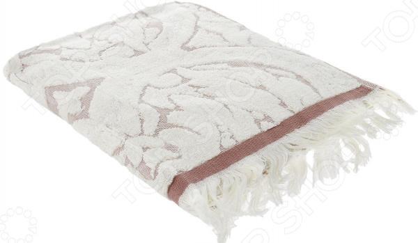 Полотенце махровое Guten Morgen «Лакшми». Цвет: бежевый, молочный