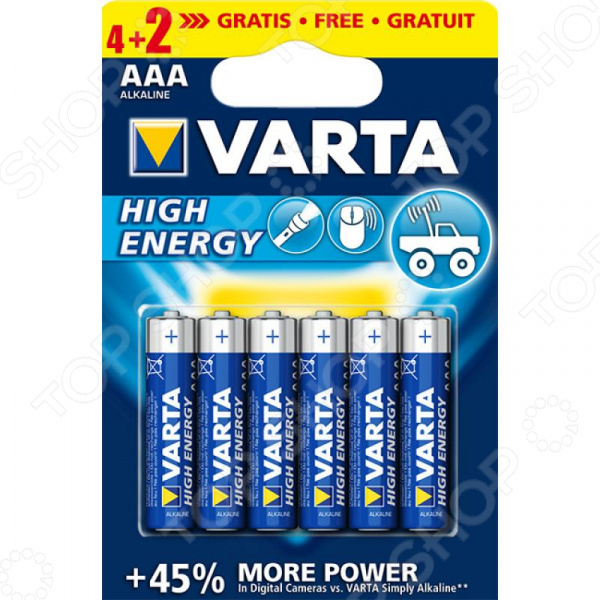Элементы питания VARTA High Energy AAA ipm h3o high quality hydrogen ion energy bars gold