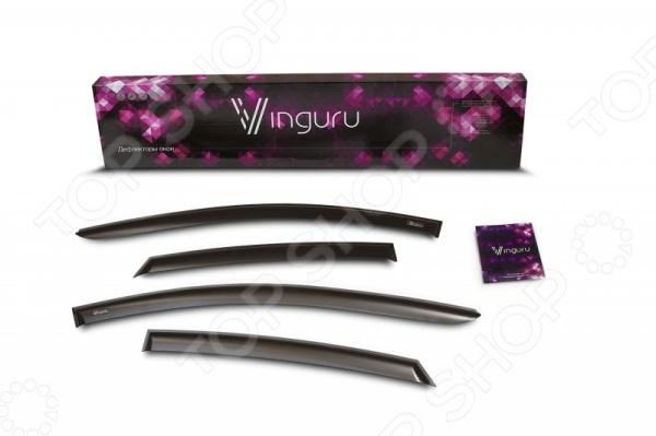 Дефлекторы окон Vinguru Nissan Sentra lll 2012 седан комплект дефлекторов vinguru накладные скотч для nissan x trail lll 2014 кроссовер 4 шт