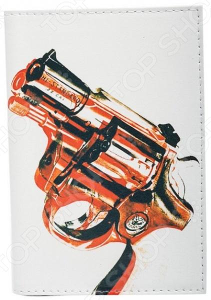 все цены на Обложка для автодокументов кожаная Mitya Veselkov «Пистолет»