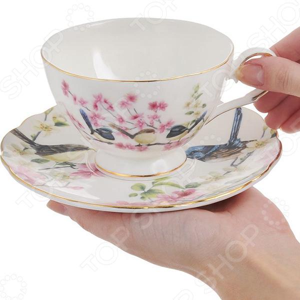 Чайная пара Elan Gallery «Райские птички»: 2 предмета