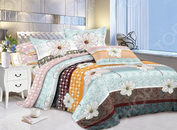 Комплект постельного белья «Сладкий сон». Евро. Рисунок: ромашки