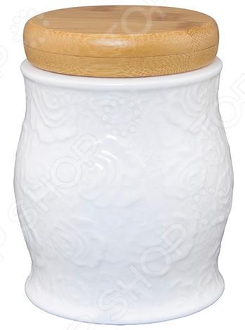 Банка для чая и кофе Elan Gallery «Белые розы» банка для хранения с ложкой коралл hc2012b d39 розы