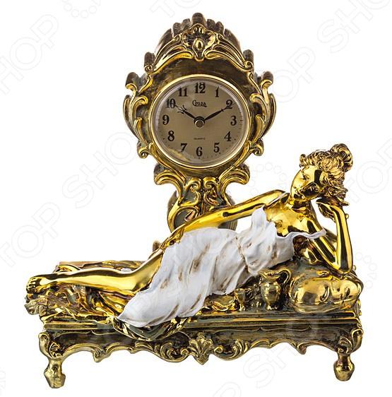 Часы настольные «Девушка на диване» 50-005 купить часы мальчику 7 лет