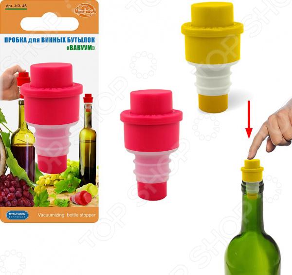 Пробка для винных бутылок Мультидом «Вакуум» J13-45. В ассортименте