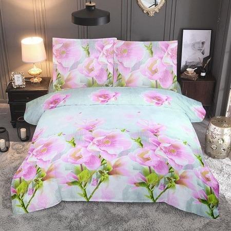 Купить Комплект постельного белья «Цветочные сны». Цвет: мятный