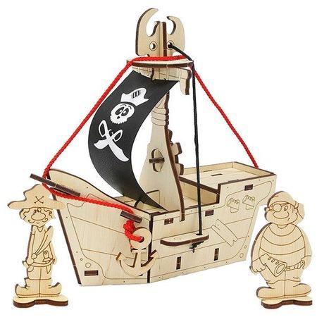 Купить Игрушка-конструктор WOODY «Пиратский корабль: Карамба»