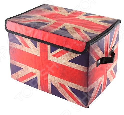 Кофр для хранения вещей EL Casa «Британский флаг». Размер: 39х26х26 см
