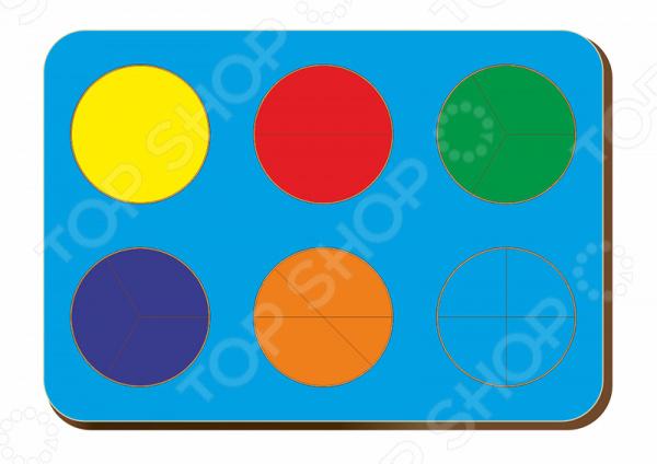 Игра развивающая WoodLand «Рамка-вкладыш: Дроби 6 кругов, уровень 1» игра развивающая woodland рамка вкладыш барбоскины 1