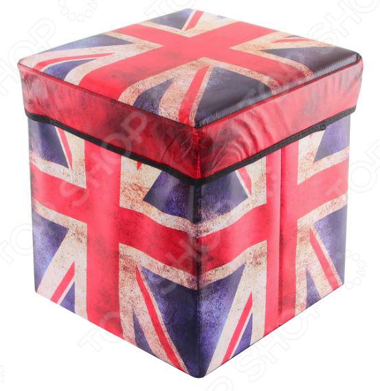 Пуф складной с ящиком для хранения EL Casa «Британский флаг» 31х31х31 см EL Casa - артикул: 972129