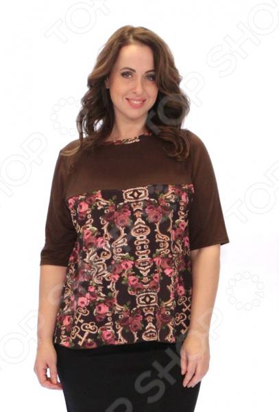 Блуза Элеганс «Степанида». Цвет: коричневый