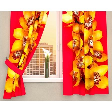 Купить Фотошторы Сирень «Желтая орхидея»