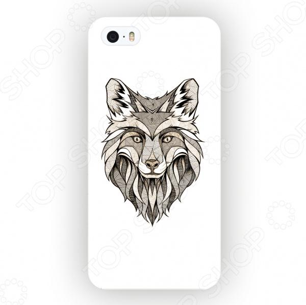 Чехол для iPhone 5 Mitya Veselkov «Зентангл: Лиса»
