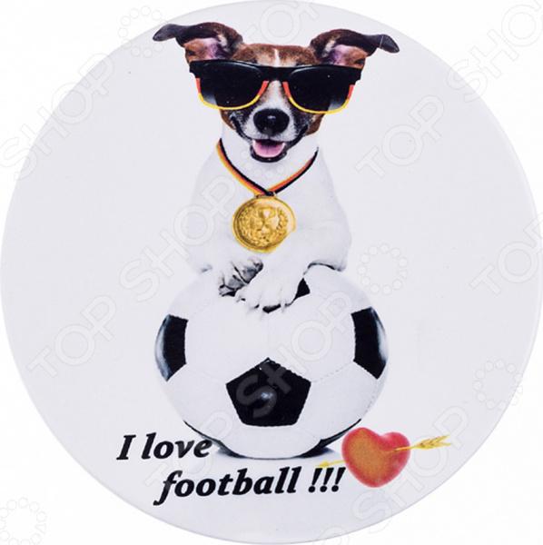Подставка под пивную кружку Lefard I love football 229-258 магнит lefard i will love you forever 229 235