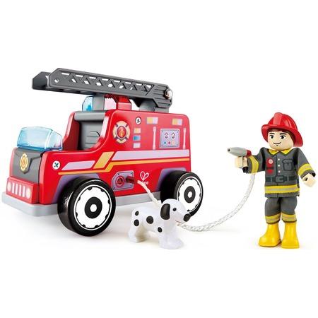 Купить Машина игровая Hape «Пожарная машина и водитель»