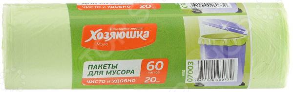 Пакеты для мусора Хозяюшка «Мила» 07003 пакеты д мусора премиум повышенной прочности 30л в пластах 20 шт 930984