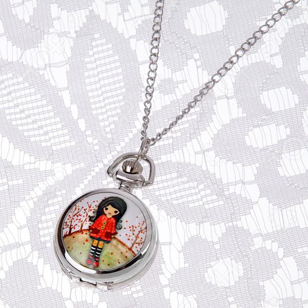 Кулон-часы Mitya Veselkov «Малышка в красных тонах»