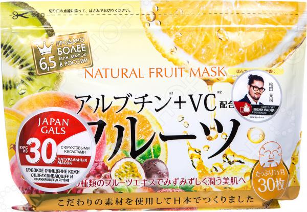 Zakazat.ru: Набор тканевых масок для лица Japan Gals с фруктовыми экстрактами