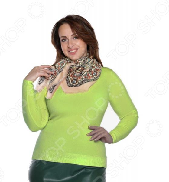 Водолазка Milana Style «Время отдыха». Цвет: салатовый