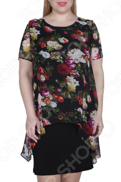 Платье ТРЕНД «Стихия женщины». Цвет: черный платье тренд стильный силуэт цвет бордовый