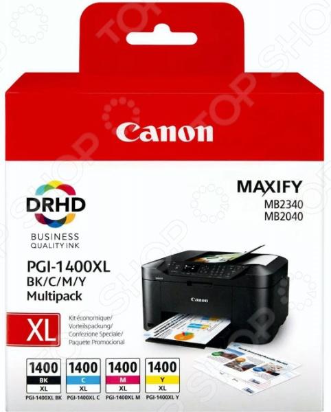 Картридж струйный Canon PGI-1400XL картридж canon pgi 1400bk c m y xl 9185b004 набор для canon maxify мв2040 2340 черный голубой пурпурный желтый