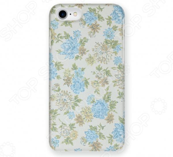 Чехол для iPhone 7 Mitya Veselkov «Нежные голубые цветы»