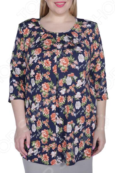 Блуза Лауме-Лайн «Цветочное настроение». Цвет: терракотовый