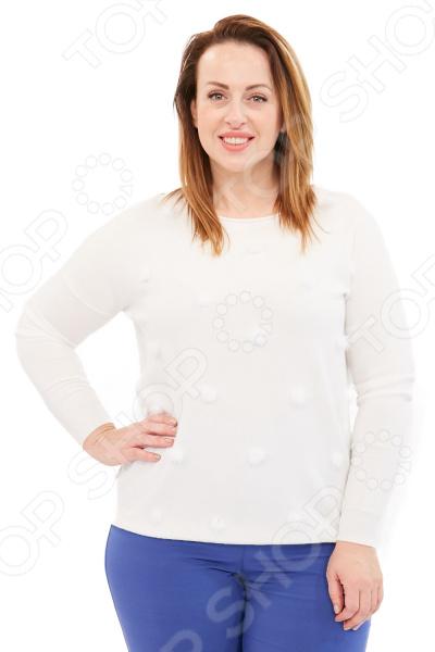Джемпер Milana Style «Мягкость кашемира». Цвет: белый платье milana style milana style mi038ewxjv28