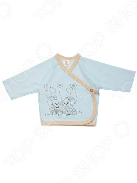 Распашонка КотМарКот Зайка 3488 является незаменимым предметом одежды в гардеробе новорожденных. Модель выполнена из хлопкового интерлока, отличается стильным дизайном и великолепным качеством пошива. Интерлок отлично зарекомендовал себя в производстве детской одежды благодаря мягкости, воздухопроницаемости и устойчивости к истиранию. Распашонка снабжена застежкой на кнопку и украшена рисунком с изображением зайчат.