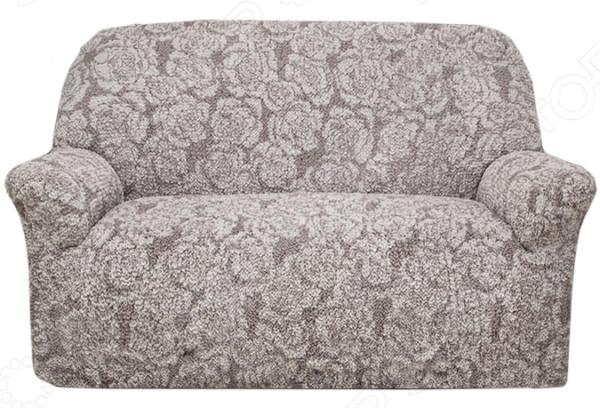 Натяжной чехол на двухместный диван Еврочехол Еврочехол «Виста. Грация»