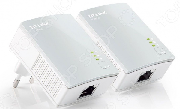 Комплект адаптеров Ethernet TP-Link TL-PA4010KIT powerline адаптер tp link tl pa4010kit tl pa4010kit