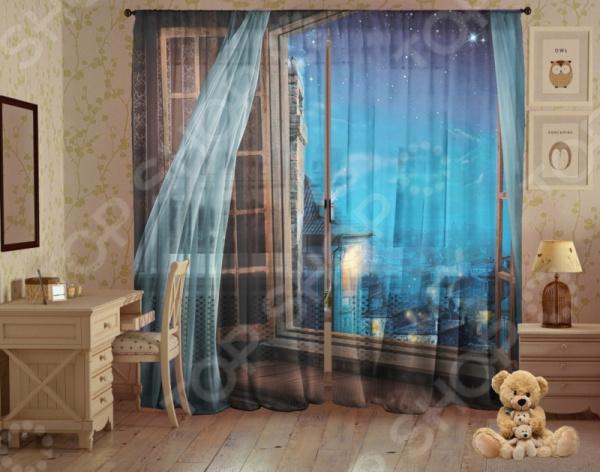 Комплект детского фототюля ТамиТекс «Ночной ветерок»