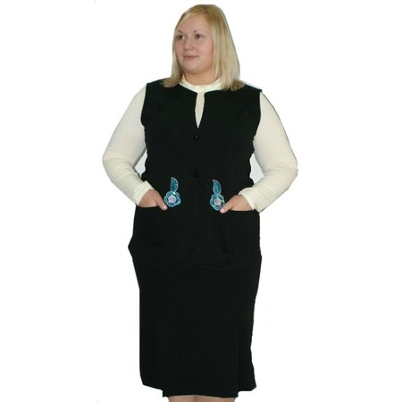 Купить Костюм-тройка с юбкой Матекс Заря. Цвет: черный, молочный