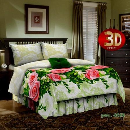 Купить Комплект постельного белья «Дикая роза». Евро